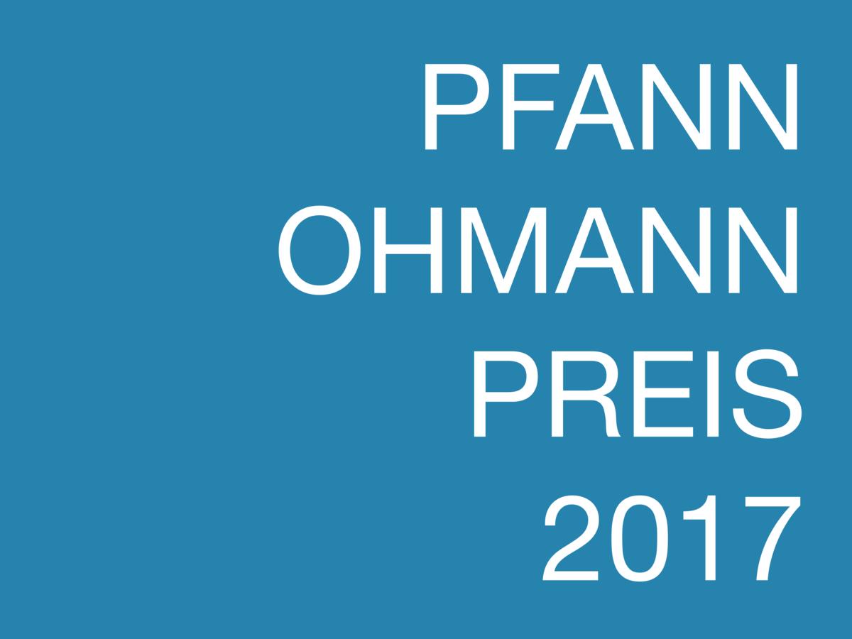 Pfann-Ohmann-Preis 2017